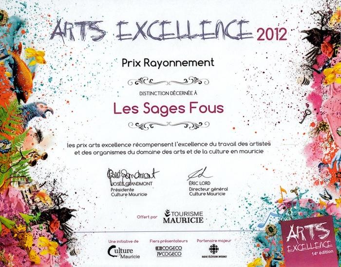 Prix Arts excellence
